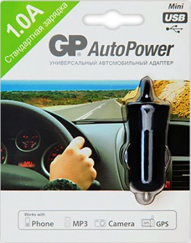 Авто З/У GP mini USB 1000 mA - GPS Партизан г. Екатеринбург