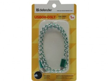 Кабель Defender micro USB LED 1m. - GPS Партизан г. Екатеринбург